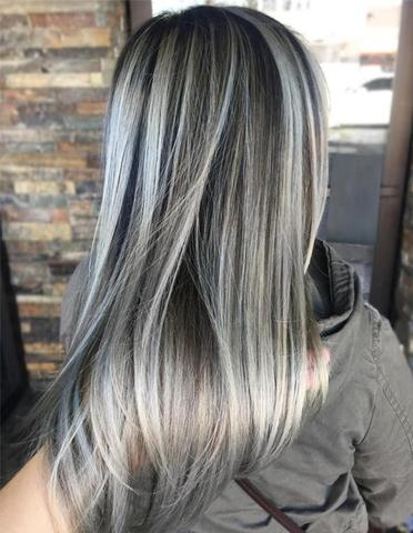 Ash Gray Hair large - MCSARA Hair