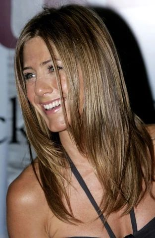 Jennifer Aniston brown long straight h air in 2006 large result - MCSARA Hair