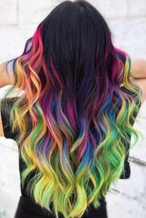 Rainbow Balayage large - MCSARA Hair