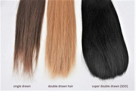 Single Double and Super Double Drawn Hair large result - MCSARA Hair