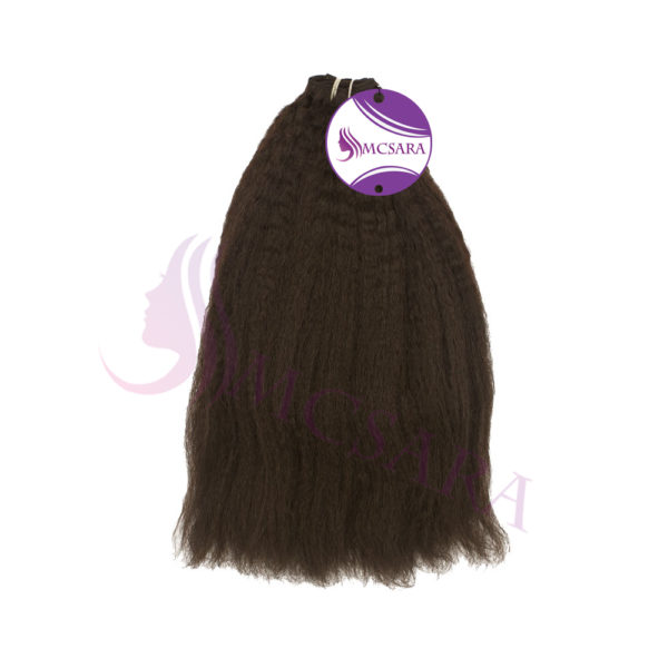 Weft kinky straight dark brown 01