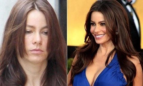 With and without makeup large result - MCSARA Hair
