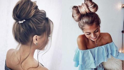You usually tightly tie or make a hair bun large - MCSARA Hair