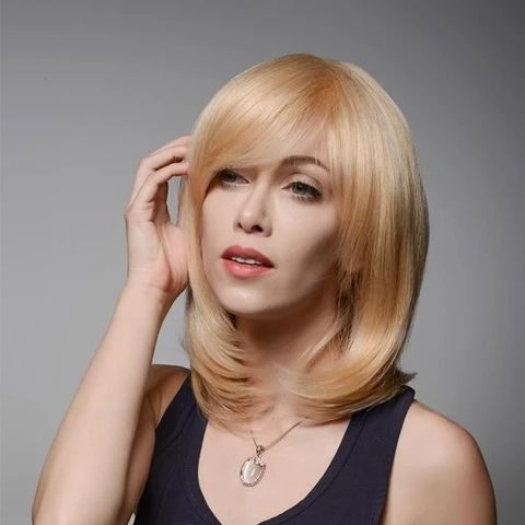 mcsara Straight blonde hair brings lovely and noble beauty for ladies. This color will help women brighten in everywhere large - MCSARA Hair