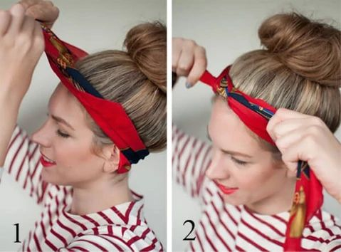 mcsara Wrap your turban scarf in the shape of a bow large - MCSARA Hair