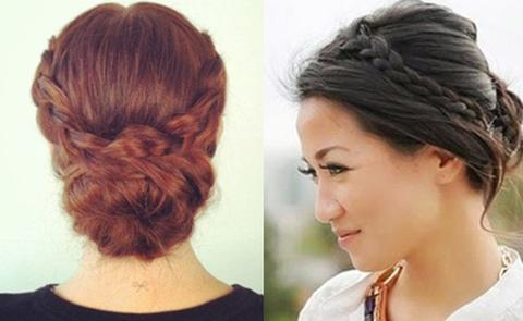 party hairstyle with bun large - MCSARA Hair